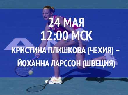 Бесплатный прогноз на теннисный турнир Кристина Плишкова (Чехия) – Йоханна Ларссон (Швеция) 24 мая