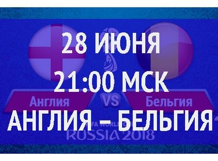 Бесплатный прогноз на матч Англия – Бельгия 28 июня