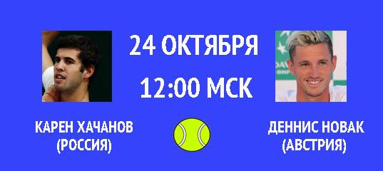 Бесплатный прогноз на теннисный турнир Карен Хачанов (Россия) – Деннис Новак (Австрия) 24 октября
