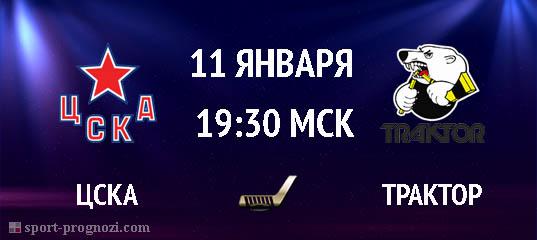 ЦСКА – Трактор 11 января