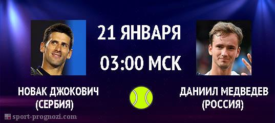 Новак Джокович – Даниил Медведев 21 января