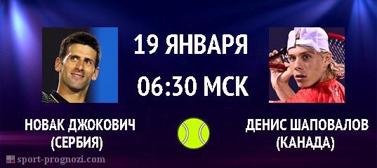 Новак Джокович – Денис Шаповалов 19 января