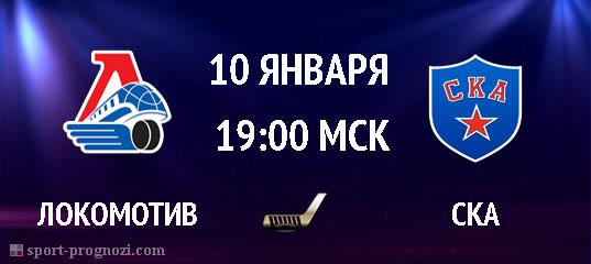 Локомотив – СКА 10 января