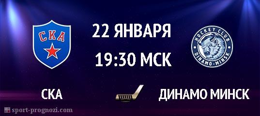 СКА – Динамо Минск 22 январь