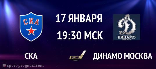 СКА – Динамо Москва 17 января