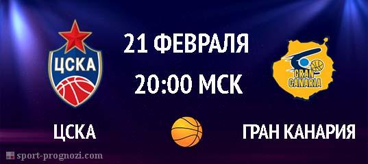 ЦСКА – Гран Канария 21 февраля