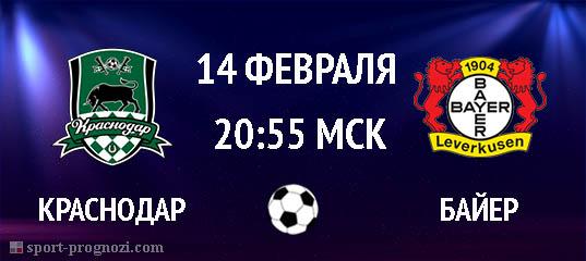 Краснодар – Байер 14 февраля