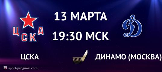 ЦСКА – Динамо (Москва) 13 марта