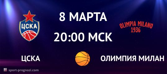 ЦСКА – Олимпия Милан 8 марта