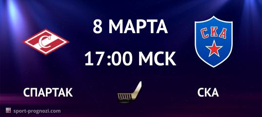 Спартак – СКА 8 марта