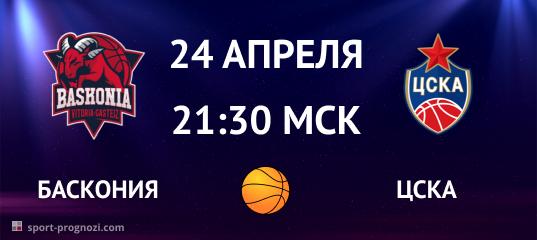 Баскония – ЦСКА 24 апреля