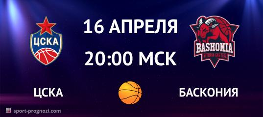 ЦСКА – Баскония 16 апреля