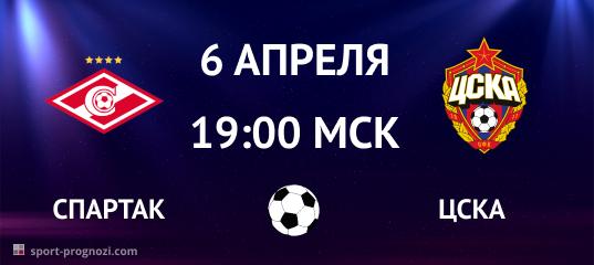Спартак – ЦСКА 6 апреля