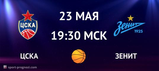 ЦСКА – Зенит 23 мая