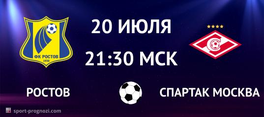 Ростов – Спартак Москва 20 июля