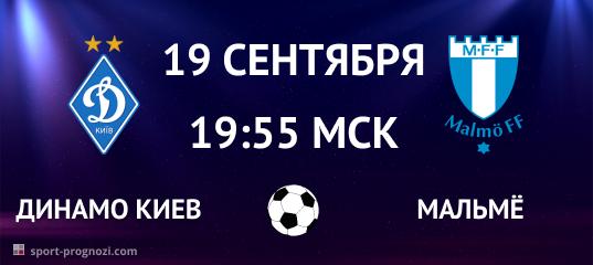 Динамо Киев – Мальмё 19 сентября