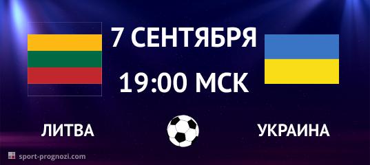 Литва - Украина ЧЕ-2020 7 сентября