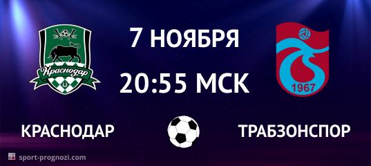 Краснодар – Трабзонспор 7 ноября