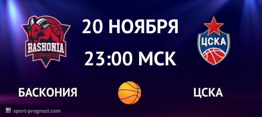 Баскония – ЦСКА 20 ноября
