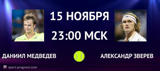 Даниил Медведев – Александр Зверев 15 ноября