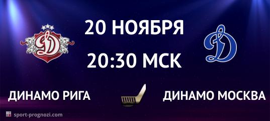 Динамо Рига – Динамо Москва 20 ноября