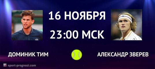 Доминик Тим – Александр Зверев 16 ноября