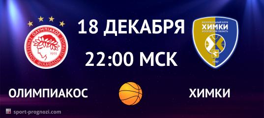 Олимпиакос – Химки 18 декабря