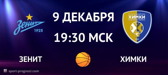 Зенит – Химки 9 декабря