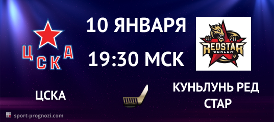 ЦСКА – Куньлунь Ред Стар 10 января