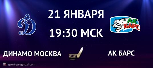 Динамо Москва – Ак Барс 21 января
