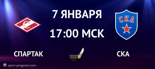 Спартак – СКА 7 января