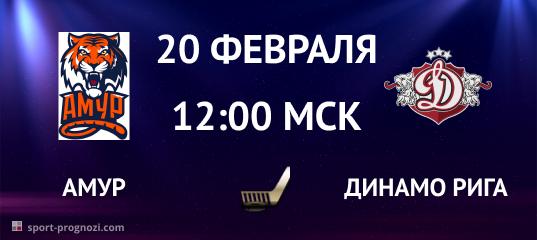 Амур – Динамо Рига 20 февраля