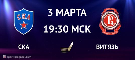 СКА – Витязь 3 марта