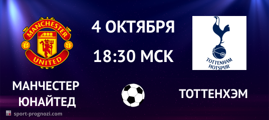 Манчестер Юнайтед – Тоттенхэм. Прогноз на 4 октября