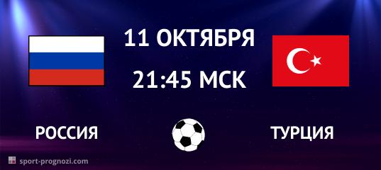 Россия – Турция. Прогноз на 11 октября