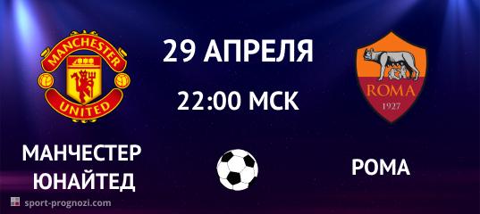 Манчестер Юнайтед – Рома. Прогноз на 29 апреля 2021
